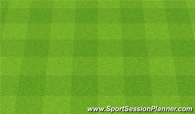 Football/Soccer Session Plan Drill (Colour): Gra nr 11. 1v1 to 2 goals. 1v1 do dwóch bramek.