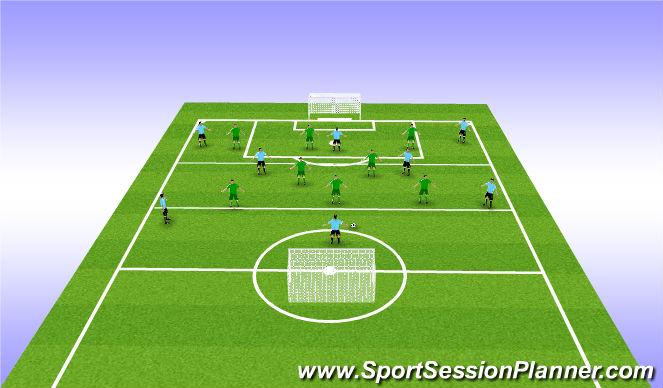 Football/Soccer Session Plan Drill (Colour): 8v8 match
