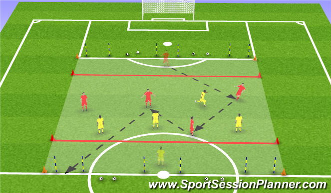 Football/Soccer Session Plan Drill (Colour): STB: Shooting Option