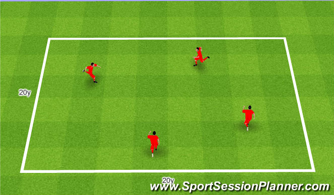 Football/Soccer Session Plan Drill (Colour): Everyone is it. Każdy goni.