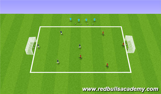 Football/Soccer Session Plan Drill (Colour): SMALL SIDES GAME