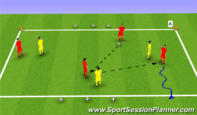 Football/Soccer Session Plan Drill (Colour): Skill Game: RWB