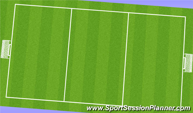 Football/Soccer Session Plan Drill (Colour): Warm Up & Prehab