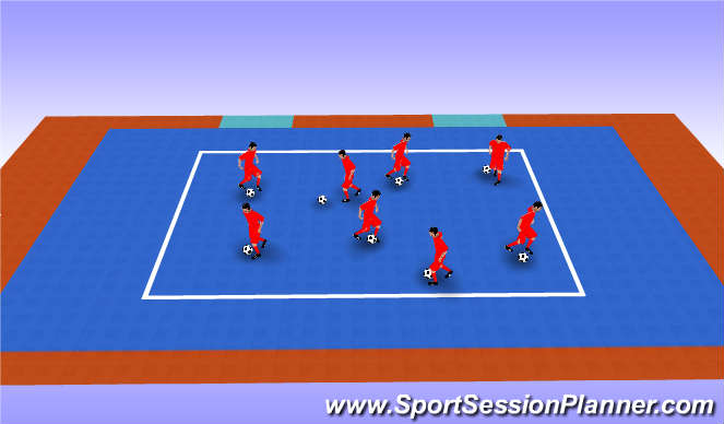 Futsal Session Plan Drill (Colour): Ball Manipulation