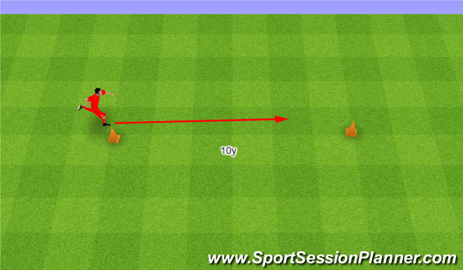 Football/Soccer Session Plan Drill (Colour): Wave. Fala.