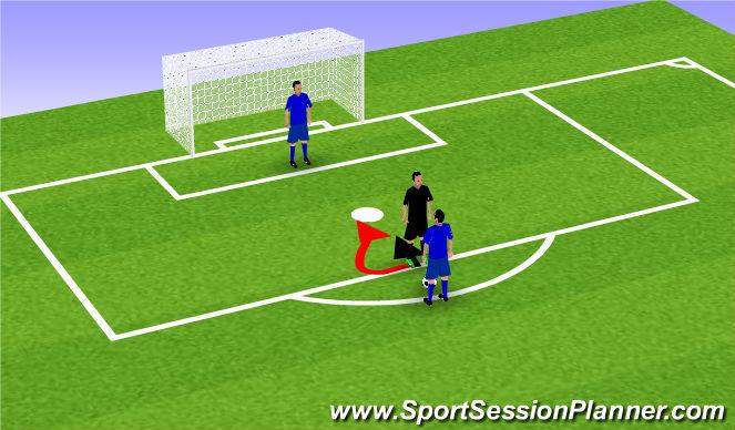 Football/Soccer Session Plan Drill (Colour): Through the legs