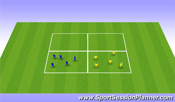 Football/Soccer Session Plan Drill (Colour): Ball Familiarity - Squares