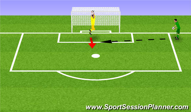 Football/Soccer Session Plan Drill (Colour): High Ball