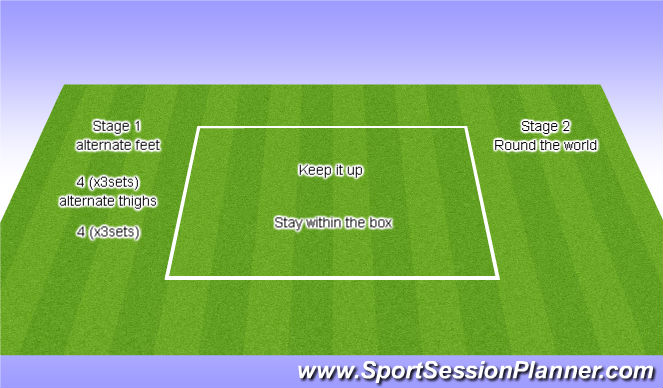 Football/Soccer Session Plan Drill (Colour): Keep it Up