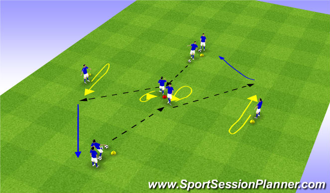 Football/Soccer Session Plan Drill (Colour): Variatie 1