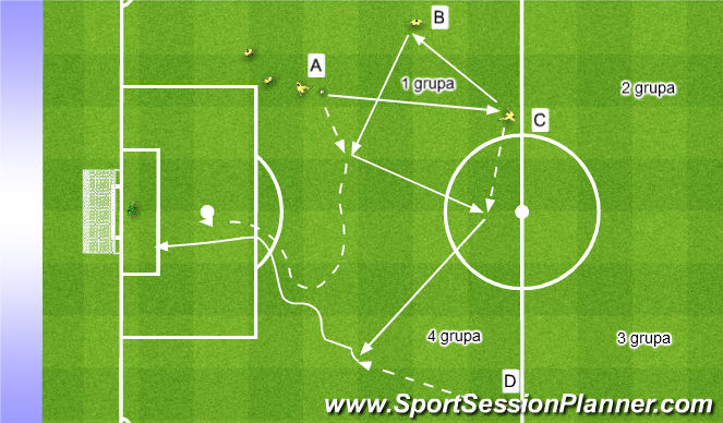 Football/Soccer Session Plan Drill (Colour): Przeniesienie ciężaru gry, 1x1