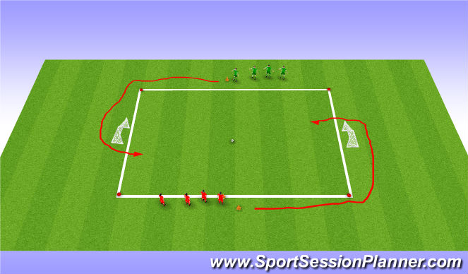 Football/Soccer Session Plan Drill (Colour): X v X SSG