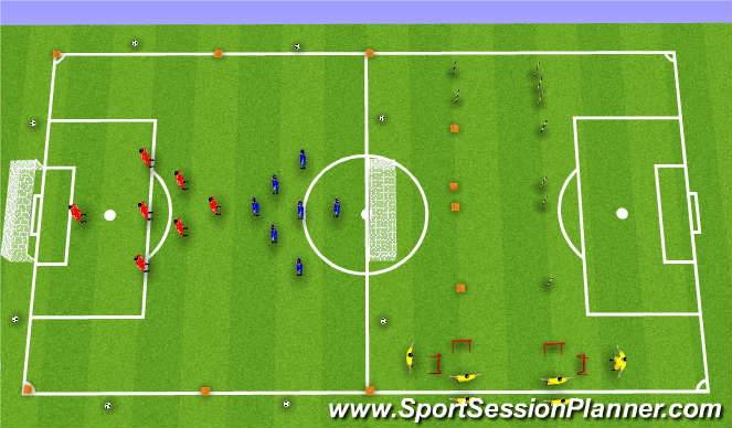 Football/Soccer Session Plan Drill (Colour): Pre-Season Lactate Threshold Session