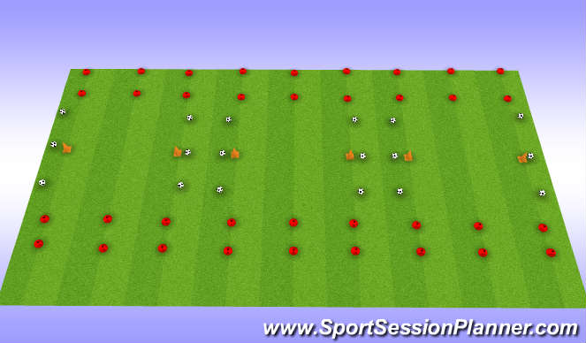 Football/Soccer Session Plan Drill (Colour): Pre-Season VO2 Max Session