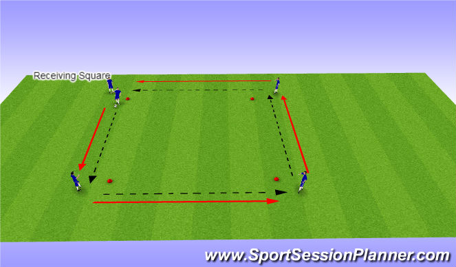Football/Soccer Session Plan Drill (Colour): Receiving Square