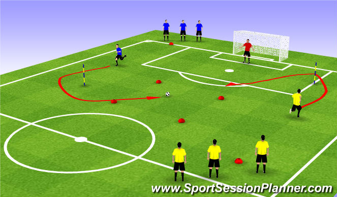 Football/Soccer Session Plan Drill (Colour): CITG