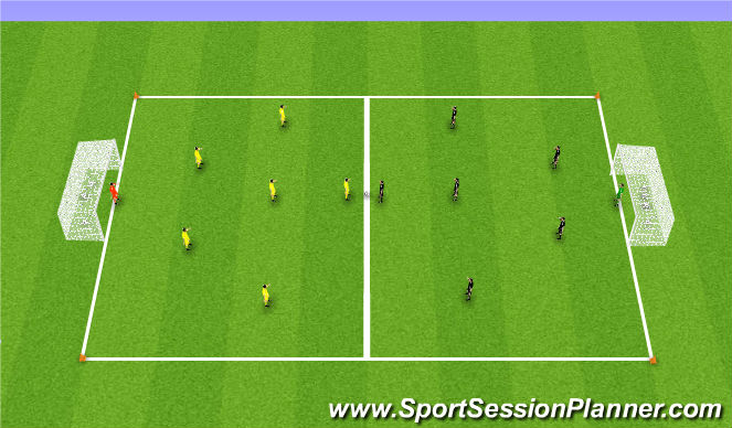 Football/Soccer Session Plan Drill (Colour): Free play - 7v7