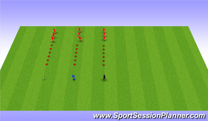 Football/Soccer Session Plan Drill (Colour): Fast Feet Component