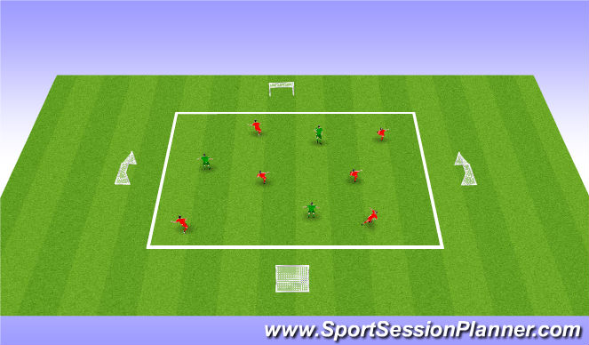 Football/Soccer Session Plan Drill (Colour): Handicapped Possession