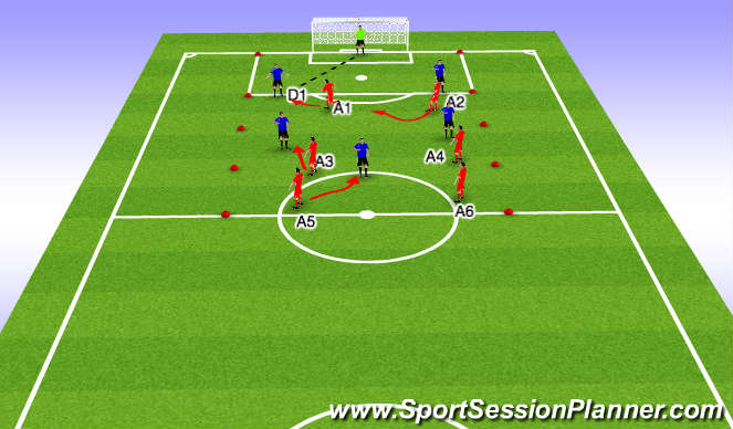 Football/Soccer Session Plan Drill (Colour): When opposition in possession