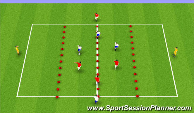 Football/Soccer Session Plan Drill (Colour): Position Game 4v4+2