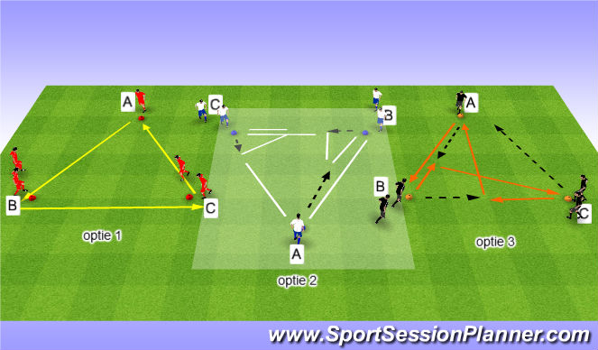 Football/Soccer Session Plan Drill (Colour): passen | aanname | kaatsen