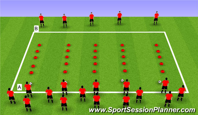 Football/Soccer Session Plan Drill (Colour): Step 4 Sprint/Fast Feet