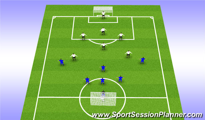 Football/Soccer Session Plan Drill (Colour): SIV Match