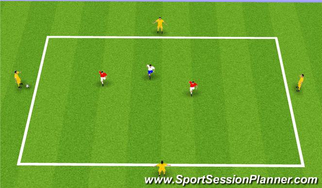 Football/Soccer Session Plan Drill (Colour): Possession Game 4v2 +1