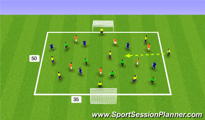 Football/Soccer Session Plan Drill (Colour): Expanded Sm Sided