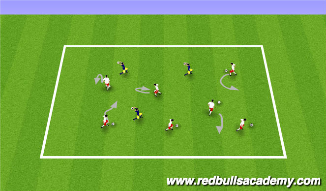 Football/Soccer Session Plan Drill (Colour): Warm-up (Marble Kings)