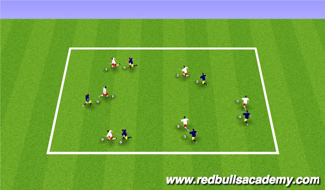 Football/Soccer Session Plan Drill (Colour): Shadows