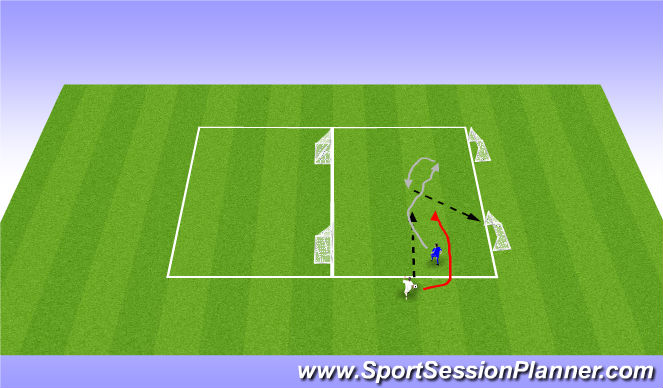 Football/Soccer Session Plan Drill (Colour): WU: Change of directions