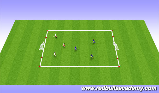 Football/Soccer Session Plan Drill (Colour): Conditioned Game 3v3