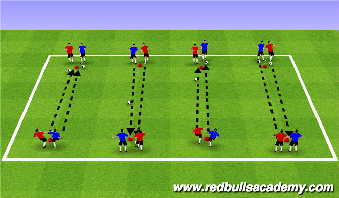 Football/Soccer Session Plan Drill (Colour): Soccer Horseshoes