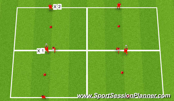 Football/Soccer Session Plan Drill (Colour): Agility W/Ball