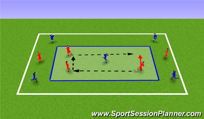 Football/Soccer Session Plan Drill (Colour): Keep Ball & Fitness