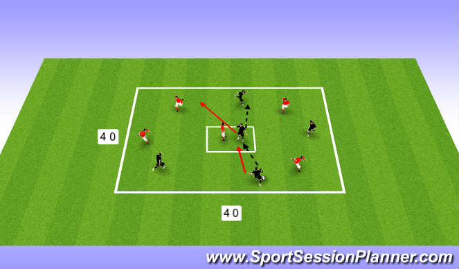 Football/Soccer Session Plan Drill (Colour): Warm up - pass and move