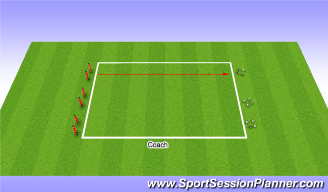 Football/Soccer Session Plan Drill (Colour): Fitness Work