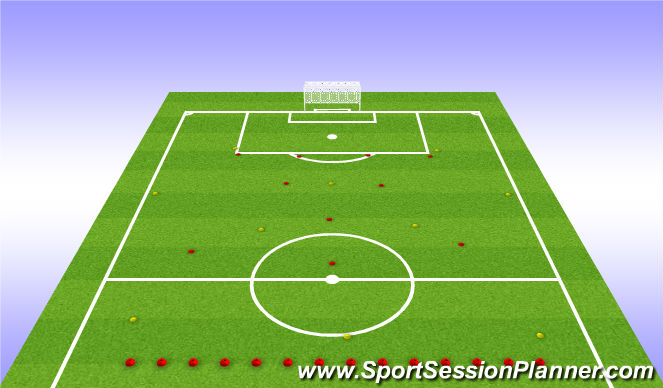 Football/Soccer Session Plan Drill (Colour): Taktískþjálfun: