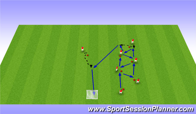 Football/Soccer Session Plan Drill (Colour): Warmup Movements