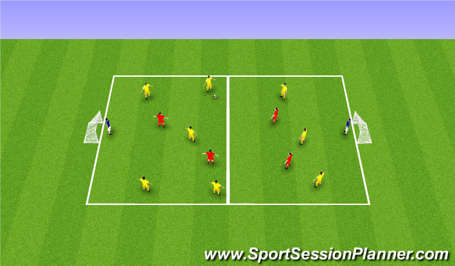 Football/Soccer Session Plan Drill (Colour): Building Attacks