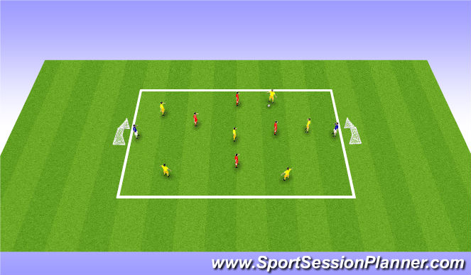 Football/Soccer Session Plan Drill (Colour): Keep Possession