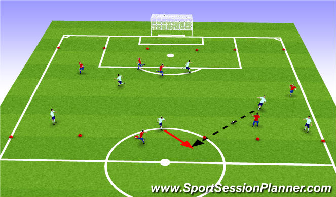 Football/Soccer Session Plan Drill (Colour): Football