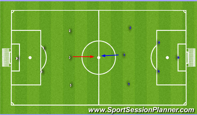 Football/Soccer Session Plan Drill (Colour): Tactical (Game)