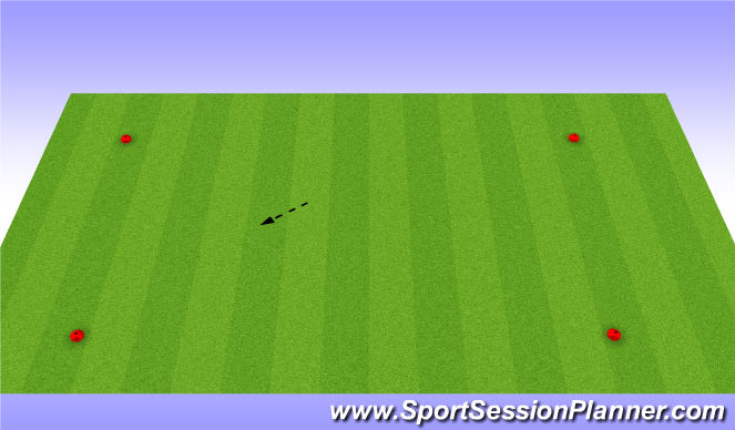 Football/Soccer Session Plan Drill (Colour): square passing