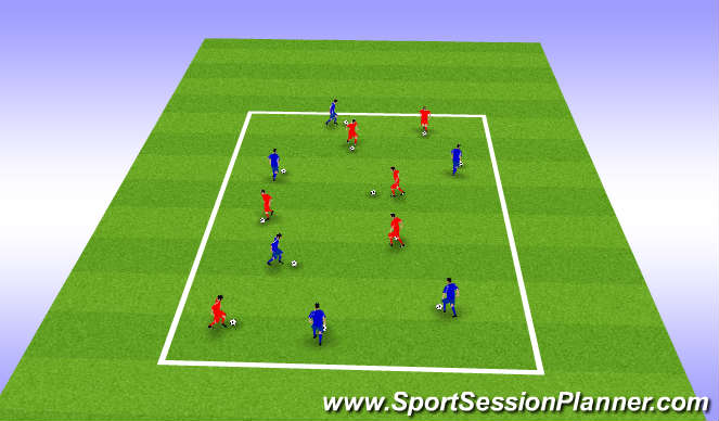 Football/Soccer Session Plan Drill (Colour): Get it up to Bring it Down