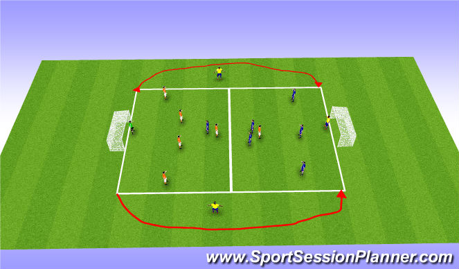 Football/Soccer Session Plan Drill (Colour): ESSG Wide Play
