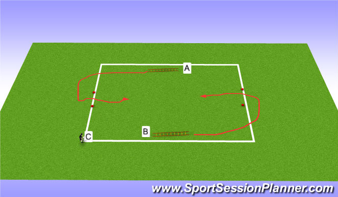 Football/Soccer Session Plan Drill (Colour): 1 v 1/2 v 2
