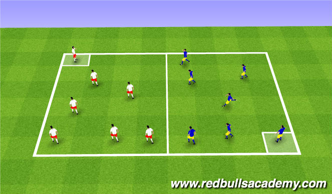 Football/Soccer Session Plan Drill (Colour): Warm-Up Tag